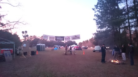 Tent City - just next of the start and finish line