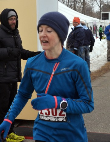 First female overall, Sarah Bard - photo from GLIRC website