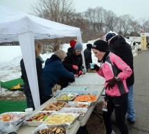 The Aid station was full stocked at the Start/Finish line - photo from GLIRC website