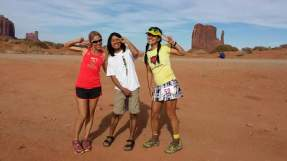 Happy faces with TWA runners Julia Lewis (1st female on 50K) and Yoshiko Jo - photo by Julia Lewis