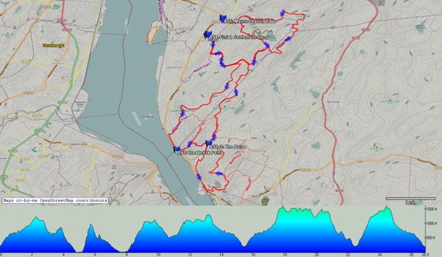 Breakneck Point Trail Marathon Revised Topo