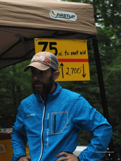 Jason Friedman, volunteer and fellow runner who made sure I would survive the next section.