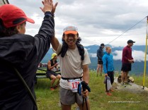 My coach congrats me as I finished - - Photo by Mountain Peak Fitness