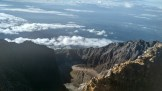 The view from the peak of Mount Rinjani