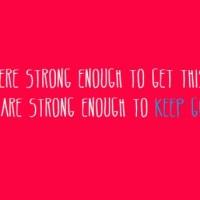 Keep On Pushing On...