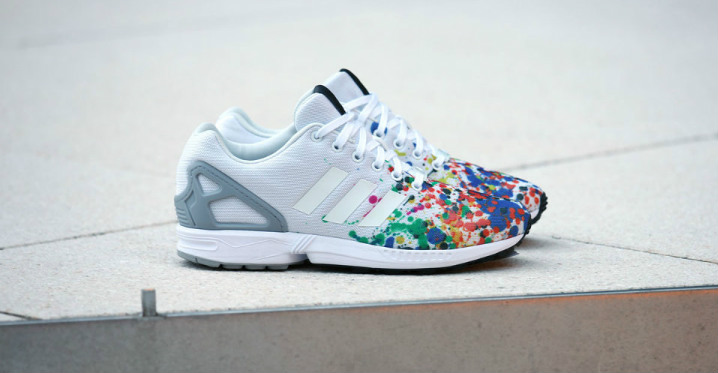 adidas zx flux rose splash