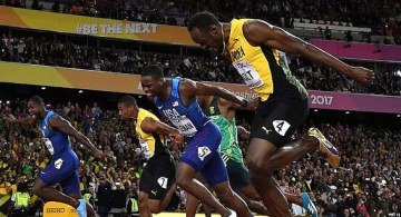 Gatlin vence a Bolt en su última carrera (video)