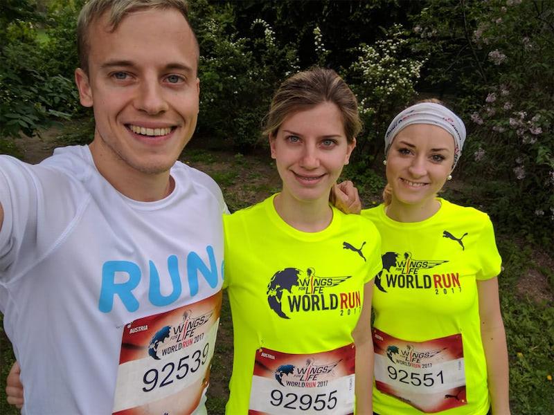 Laufen in Wien beim Wings for life world run in Vienna