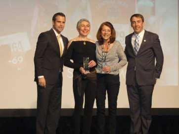 Sylvie Kimche and Carol Hansen share runner of the year