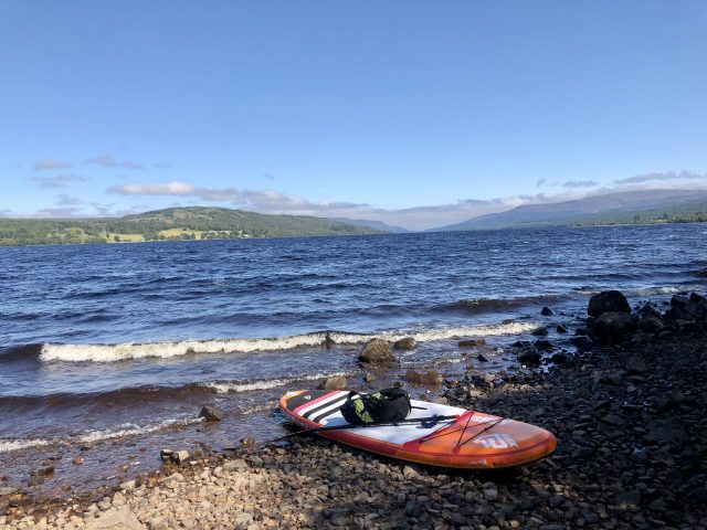 The beautiful Loch Rannoch during the crossing
