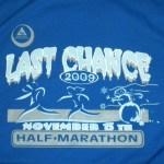 2009 Last Chance Half Marathon Race Report