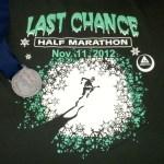 2012 Last Chance Half Marathon Race Report