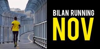 Bilan Running Novembre : Reprise légère