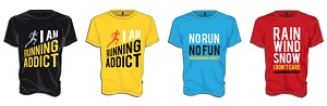 t-shirt running addict