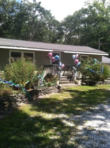 My friends Courtney & Kim decorated our house right before we returned. What a welcome home!