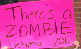 zombiebehind you