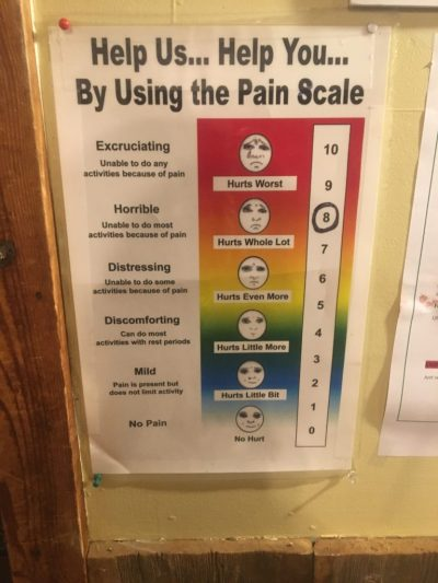 endurance society infinitus pain scale