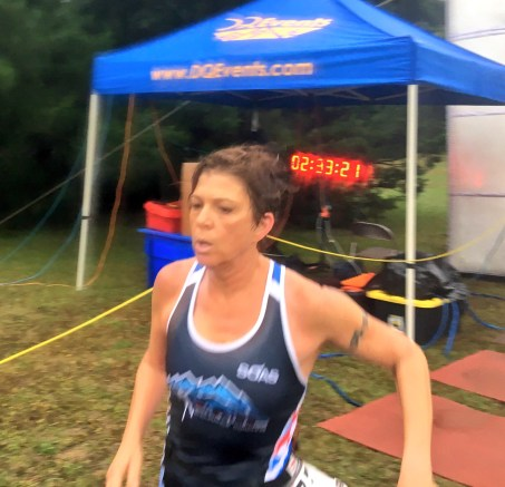 Finish line at Survival of the Mills. Pretty obvious that the common denominator of these shorter races is horrific oxygen-deprived pain. And, then endorphons. All the endorphins.