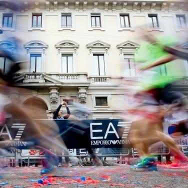 Foto LaPresse/ Spada 02-03-2017, Milano sport Milano Marathon EA7 Emporio Armani nella foto: la maratona Photo LaPresse/ Spada 2017-04-02, Milan Milano Marathon EA7 Emporio Armani In the picture: Milano Marathon