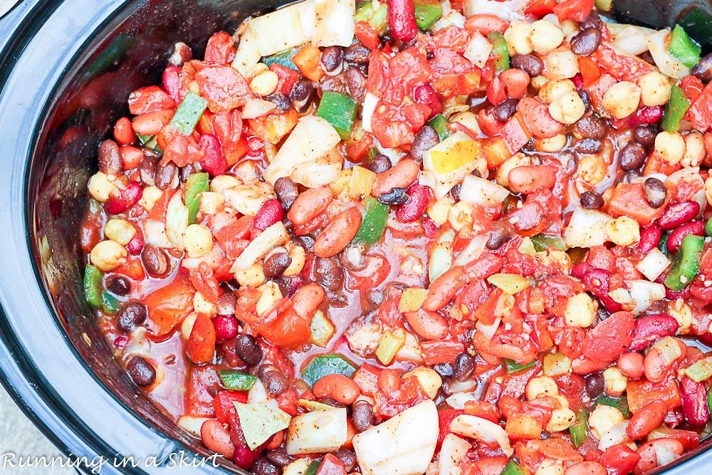 Crock Pot Award Winning Vegetarian Chili Recipe-21-1