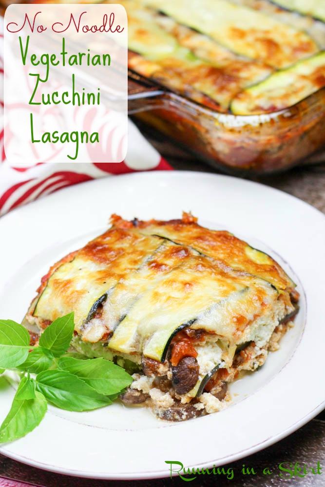 no noodle vegetarian zucchini lasagna pin