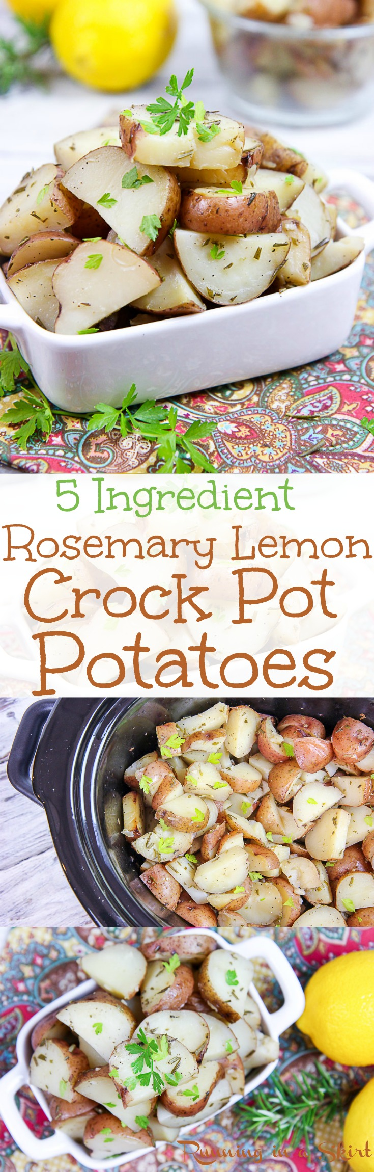 5 Ingredient Crock Pot Rosemary Potatoes