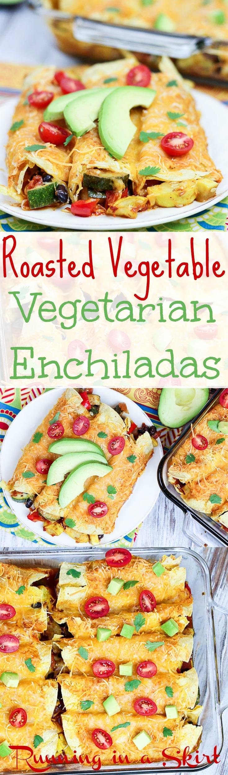 Vegetarian Roasted Vegetable Enchiladas