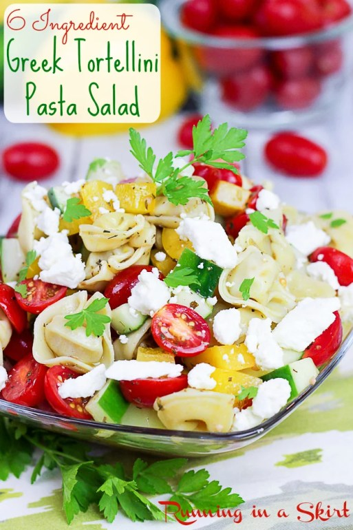 Greek Tortellini Pasta Salad - 6 ingredients!