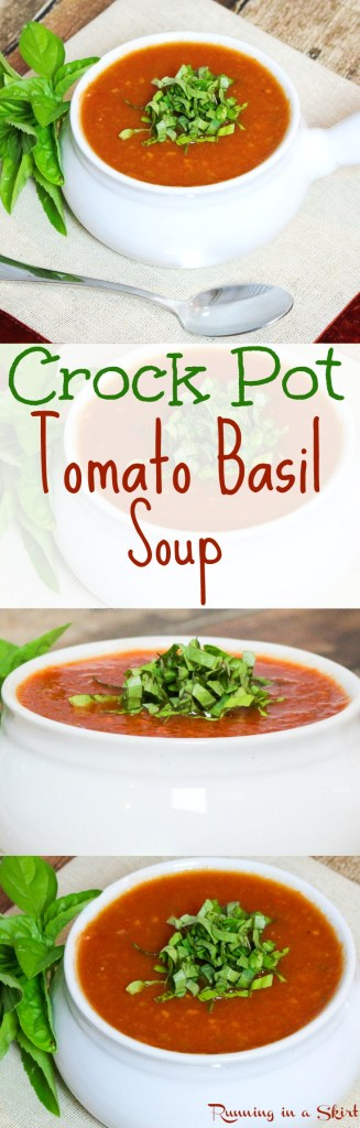 Easy Vegetarian Crock Pot Tomato Basil Soup