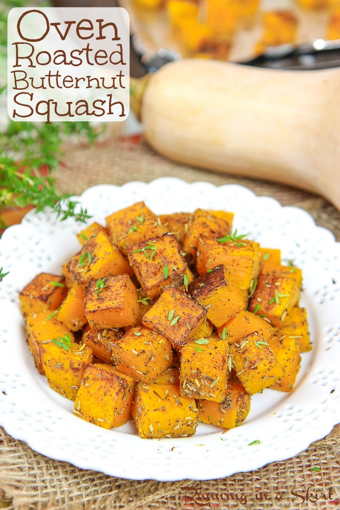 Oven Roasted Butternut Squash recipe pinterest pin.