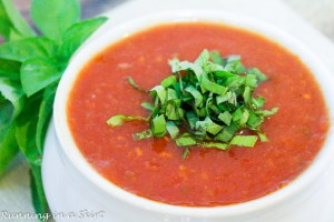 Easy Vegetarian Crock Pot Tomato Basil Soup recipe