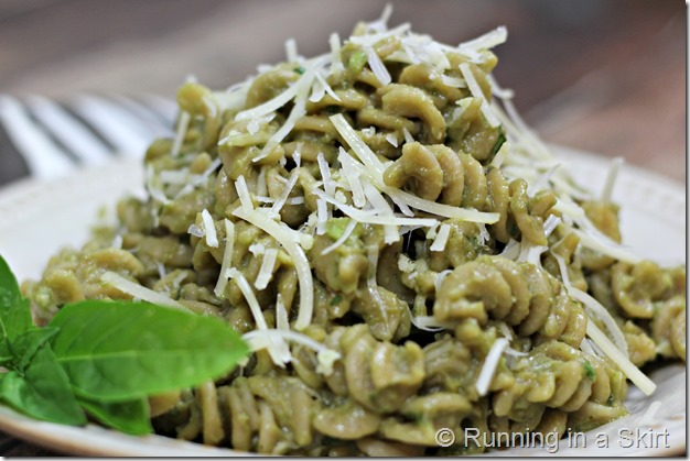 Avocado Pasta - healthy quick pasta dinner!
