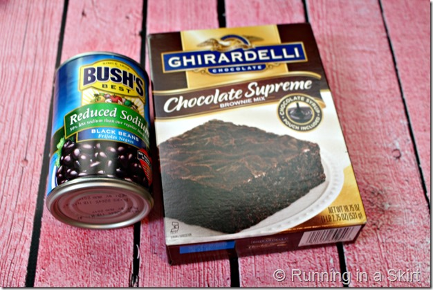 Black Bean Brownie - two ingredients for brownies! So fudgy that no one will believe the healthy secret ingredient!