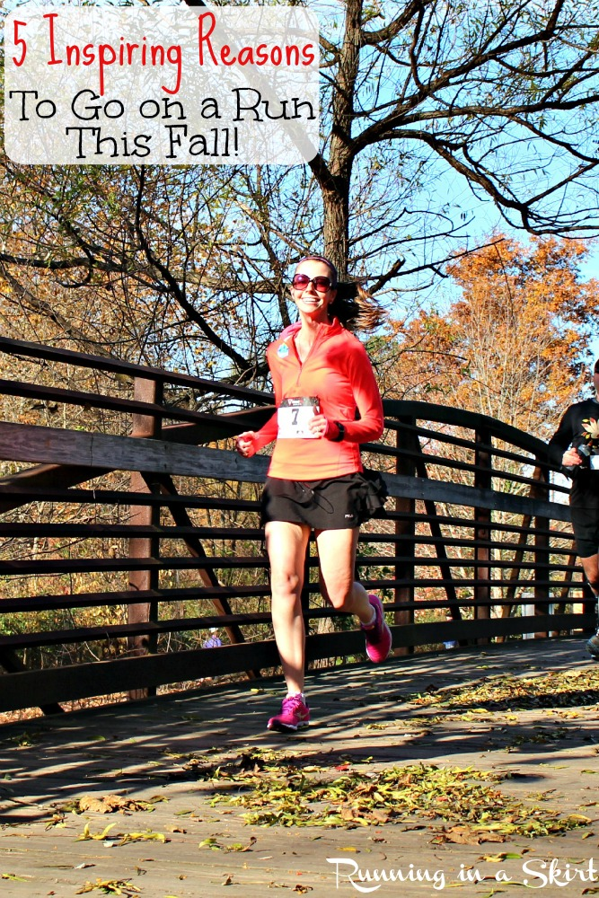 5 Inspiring Reasons Fall Running is Fabulous/ Running in a Skirt
