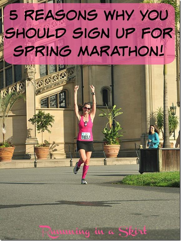 Spring marathon pin