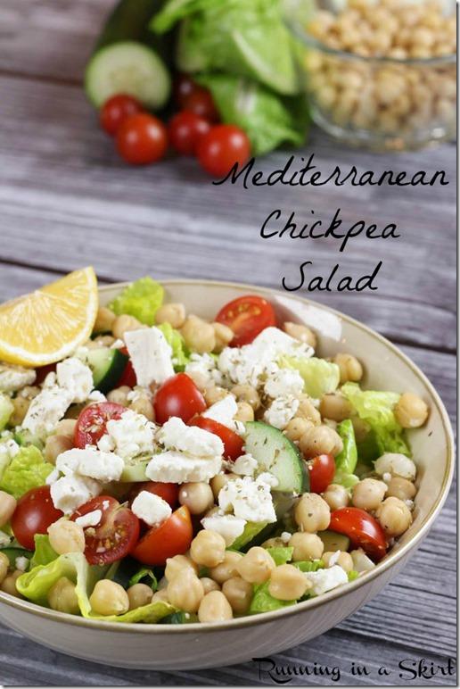 Mediterranean Chickpea Salad pin