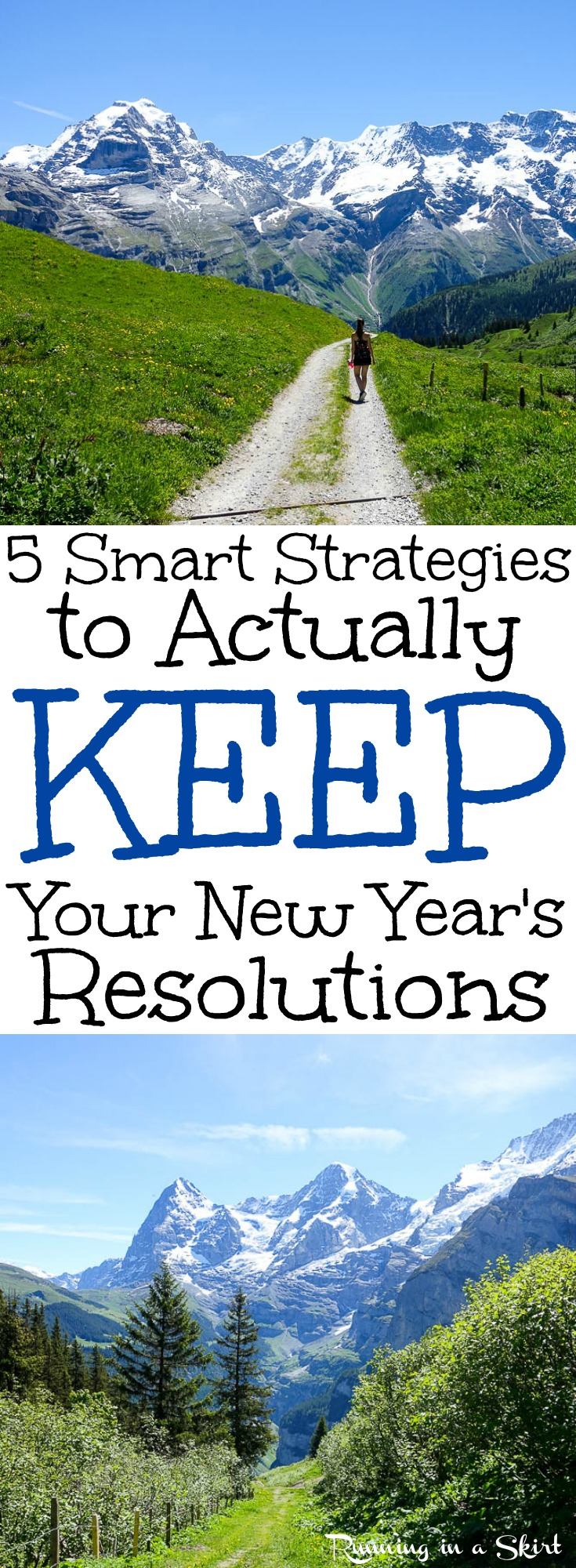How to Make and How to KEEP New Year's Resolutions.  Tips, tricks and ideas to get on track with healthy and fitness this year.  Includes simple motivation and inspiration to be the best version of you! / Running in a Skirt via @juliewunder