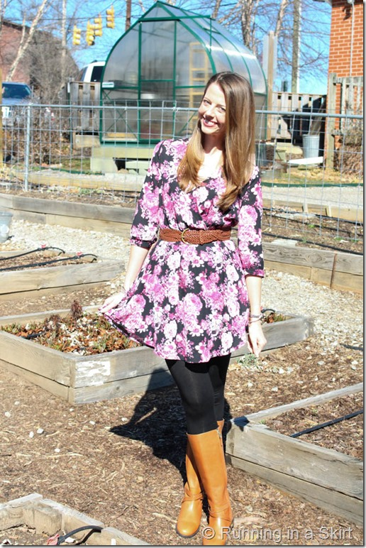 Floral Dress with Boots-116-4