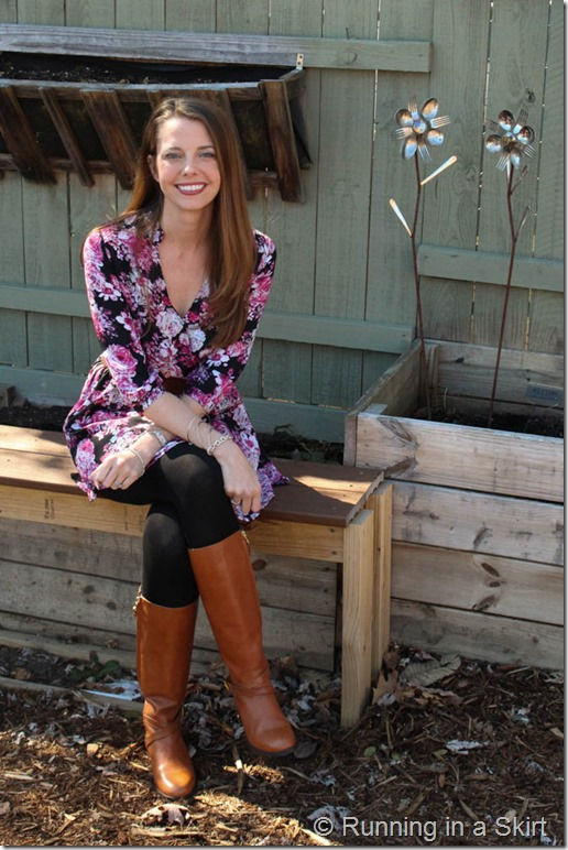 Floral Dress with Boots-174-5