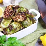 Healthy Lemon Roasted Brussels Sprouts with Garlic