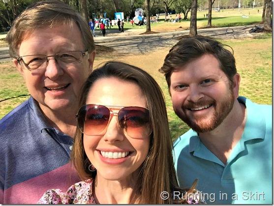 julie dad tommy selfie freedom park