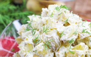 Greek Yogurt Potato Salad with dill