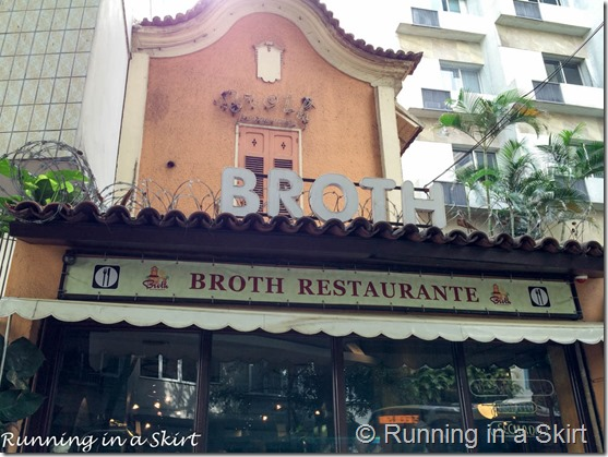 Broth Restaurant- Rio de Janeiro Travel Guide including great Rio Travel Tips!
