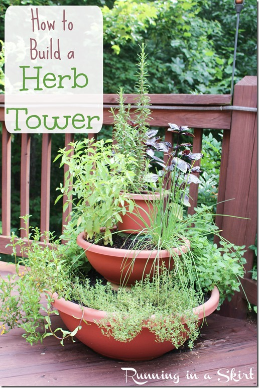 how to build a herb tower pin