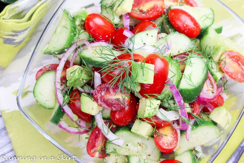 This Simple Tomato Cucumber And Avocado Salad Recipe Is Perfect For Even  The Hottest Of Hot Summer Days Ahead! I Hope You Enjoy It As Much As I Do.