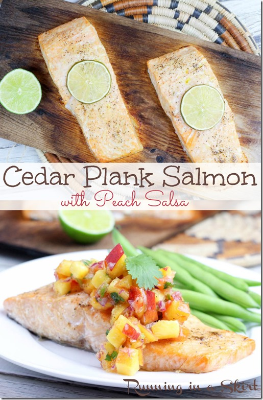 Cedar Plank Salmon Recipe with Peach Salsa