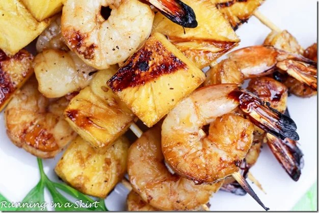 Closeup of shrimp.