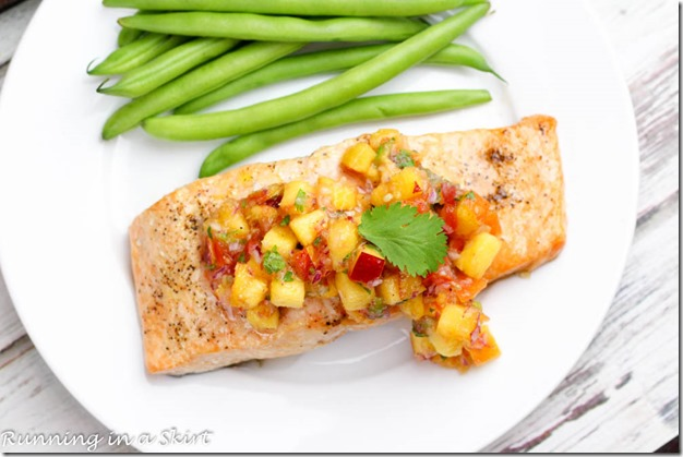 Cedar Plank Salmon Recipe with Peach Salsa8