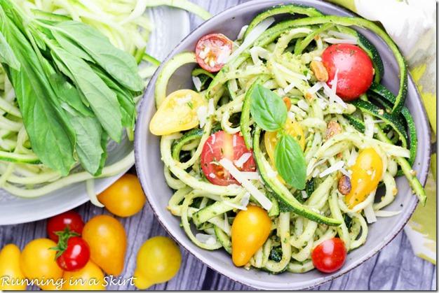 pistachio pesto zoodles