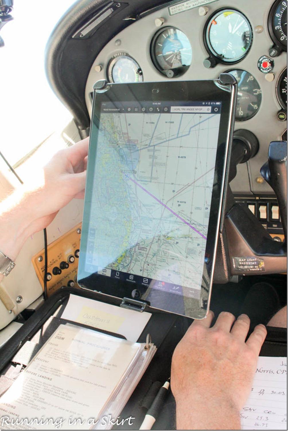 Flying to the Bahamas Ipad Chart